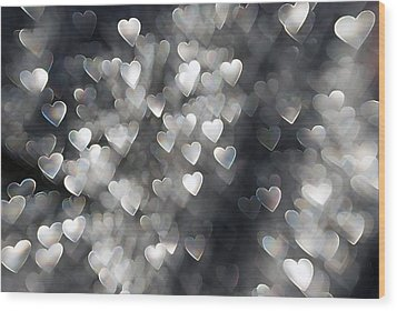 Showered In Love Wood Print by Beverly Stapleton