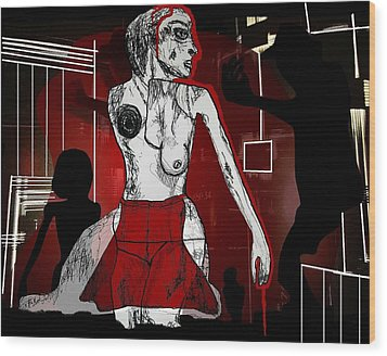 Showgirl Wood Print by Franziska Kolbe