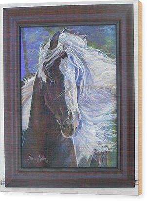 showing frame on Pearlie King Wood Print