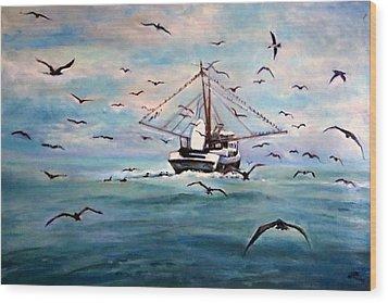 Shrimp Boat Costa Rica Wood Print