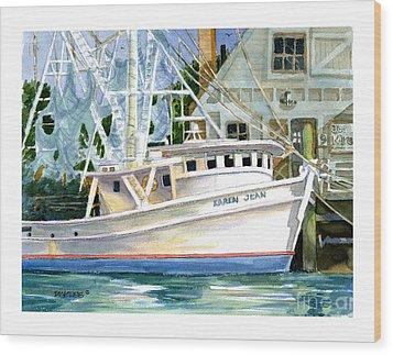 Shrimper Karen Jean Wood Print