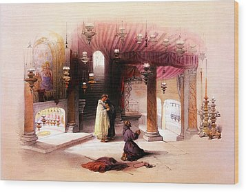 Shrine Of The Nativity Bethlehem April 6th 1839 Wood Print by Munir Alawi