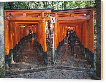 Shrine Walk Wood Print