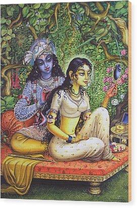 Shringar Lila Wood Print by Vrindavan Das