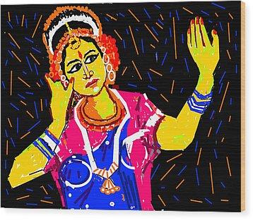 Shringara Rasa Wood Print by Anand Swaroop Manchiraju