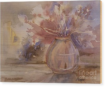 Shrivelled Wood Print by Donna Acheson-Juillet