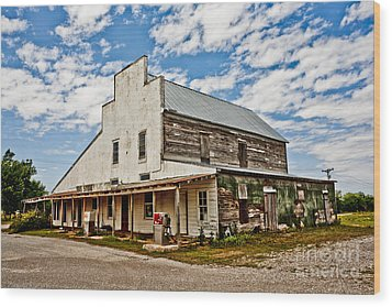 Shriver's General Store Wood Print by Pattie Calfy