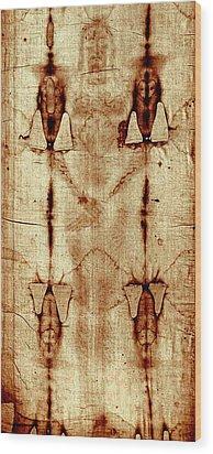 Shroud Of Turin Wood Print by A Samuel