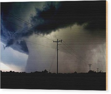 Wood Print featuring the photograph Shrouded Tornado by Ed Sweeney