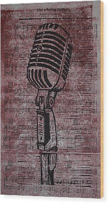 Shure 55s On Music Wood Print