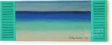 Shutter Me Sea Wood Print