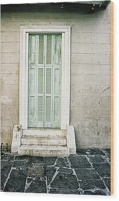 Shuttered Doors Wood Print