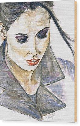 Shy Lady Wood Print