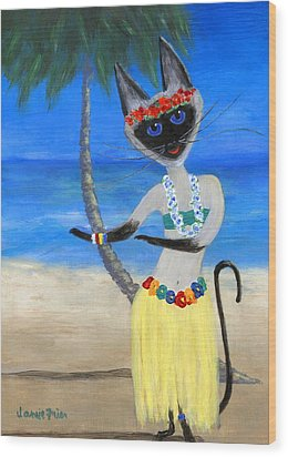 Siamese Queen Of Hawaii Wood Print by Jamie Frier