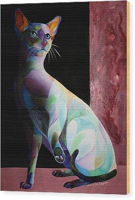 Siamese Shadow Cat 1 Wood Print