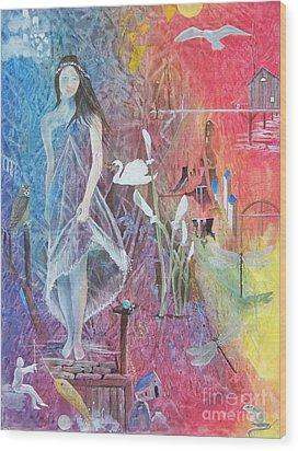 Sian Nia Wood Print by Jackie Mueller-Jones