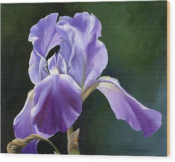 Wood Print featuring the painting Siberian Iris by Alecia Underhill