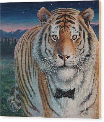Zoofari Poster The Siberian Tiger Wood Print