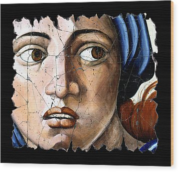 Sibyl Of Delphi Wood Print by Steve Bogdanoff