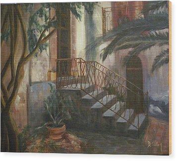Sicilian Nunnery Wood Print by Donna Tuten