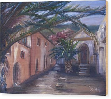 Wood Print featuring the painting Sicilian Nunnery II by Donna Tuten