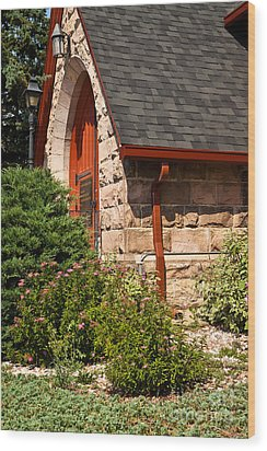 Side Entrance Wood Print by Lawrence Burry