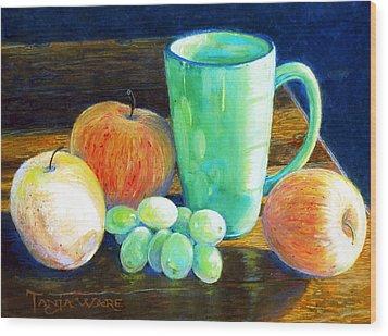 Side Light Wood Print by Tanja Ware