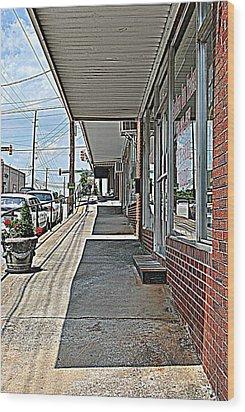 Sidewalk Wood Print by Beverly Hammond