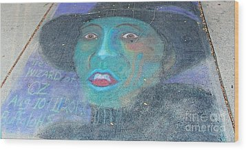 Wood Print featuring the photograph Sidewalk Halloween Contest by Janette Boyd