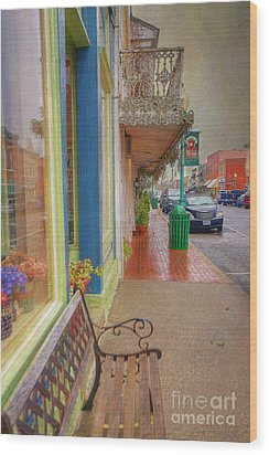 Sidewalk Shot Weston Missouri Wood Print by Liane Wright