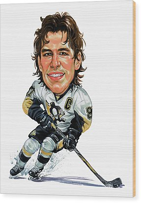 Sidney Crosby Wood Print by Art