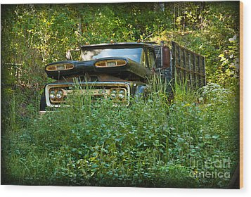 Sid's Old Truck Wood Print by Lena Wilhite