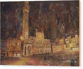 Siena Sunset Wood Print