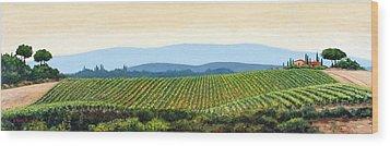 Sienna Hills Wood Print by Michael Swanson