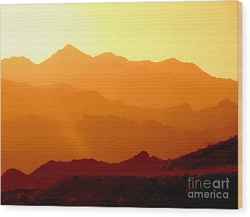 Sienna Layers Wood Print