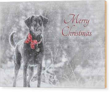 Sienna - Merry Christmas Wood Print by Lori Deiter