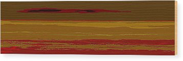 Wood Print featuring the digital art Sienna Vista by Anthony Fishburne