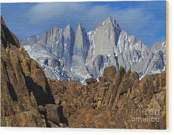 Sierra Nevada California Wood Print by Bob Christopher