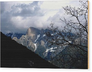 Wood Print featuring the photograph Sierra Nevada Snowy View by Matt Harang