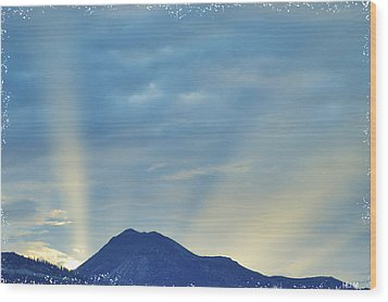 Sierra Sunset Wood Print