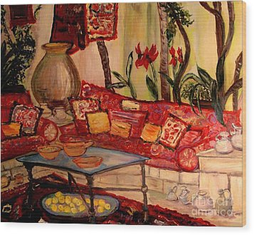 Sierra's Garden Room Wood Print by Helena Bebirian