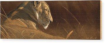 Siesta Wood Print by Aaron Blaise