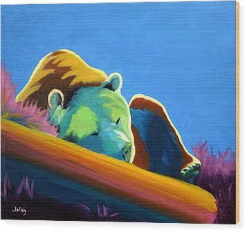 Wood Print featuring the painting Siesta Time by Nancy Jolley