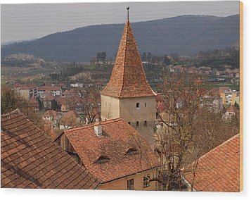 Sighisoara From The Rooftop  Wood Print
