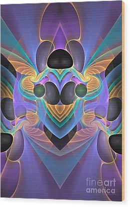 Sign Of The Angel Wood Print by Sipo Liimatainen