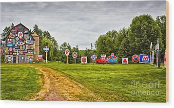 Wood Print featuring the photograph Signage Barn by Ricky L Jones