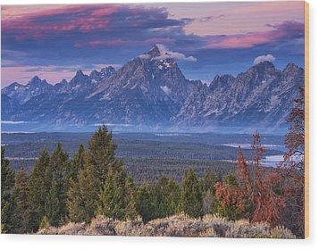 Signal Mountain Sunrise Wood Print by Mark Kiver