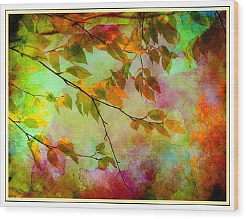 Wood Print featuring the digital art Signs Of Autumn by Nina Bradica