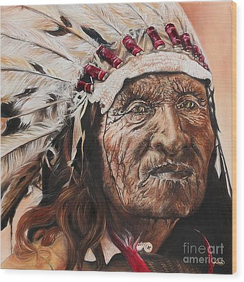 Signs Of His Times Wood Print by Annalise Kucan