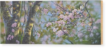 Signs Of Spring Wood Print by Michael Ashmen